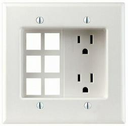 Leviton 012-00690-00W W Decora® Residential Recessed 2 Gang