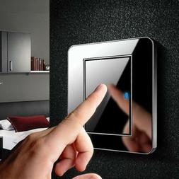 1/2/3 Gang 1/2 Way Modern Wall LED Light Switch Panel Push B