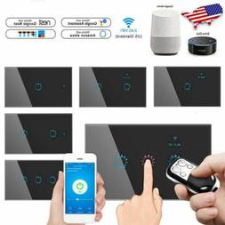 5pcs 1/2/3 Gang Smart WiFi Touch Light Wall Switch Panel for