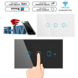 1/2/3 Gang WiFi Smart Home Touch Light Wall Switch Panel for