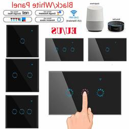 1/2/3 Gang WiFi Smart Touch Panel US/EU Light Switch APP for