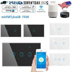 1/2/3 Gang WiFi Smart Touch Switch Wall Light Timer APP Voic