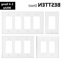 1 4 gang decor wall plate outlet