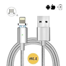 2 in 1 Charger,Lazaga Magnetic USB Charger & Sync Cable With