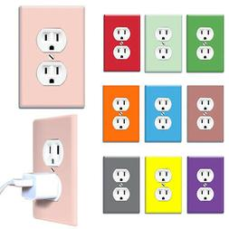 1-Gang Duplex Decorative Wall Switch Outlet Cover Receptacle