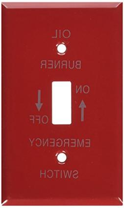Morris Products 1 Gang Oil Emergency Metal Switch Plates
