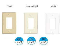 EATON 1 Gang Single Decorator Wall Plates Light Switch Cover