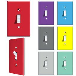 1-Gang Single Toggle Light Switch Wall Plate Decor Cover - S