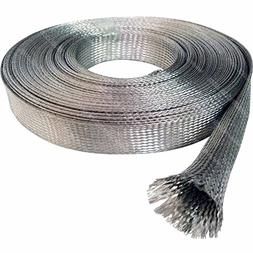 "1/4"" Tinned Copper Metal Braided Sleeving - 10FT"