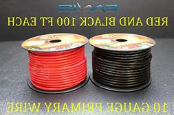 10 GAUGE WIRE ENNIS ELECTRONICS 100 FT RED 100 FT BLACK PRIM