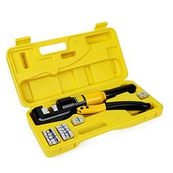 10 Tons Hydraulic Wire Battery Cable Lug Terminal Crimper Cr