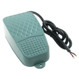 10A 250VAC Nonslip Metal Momentary On Off Control Foot Pedal