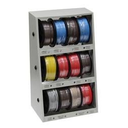43111 12-Spool Automotive Wire Assortment with Steel Rack