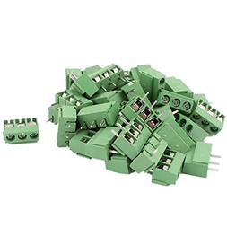 40Pcs 14-22AWG 3 Way 3P PCB Screw Terminal Block Connector 5
