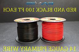 14 GAUGE WIRE ENNIS ELECTRONICS 100 FT RED 100 FT BLACK PRIM