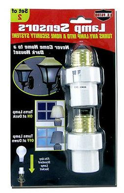2 Automatic Lamp Sensors Dusk to Dawn Security Light Switch