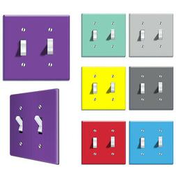 2-Gang Double Toggle Light Switch Wall Plate Decor Cover - S