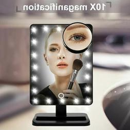 20 LED Light Beauty Cosmetic Make Up Touch Screen Desktop St