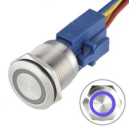 22mm Latching Push button Switch 12V Angel Eye Ring Light LE