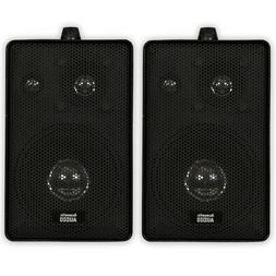 Acoustic Audio 251B Indoor Outdoor 3 Way Speakers 400 Watt B
