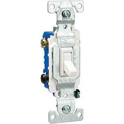 3-WAY LIGHTED White Cooper 15 Amp Toggle Light Switch Eaton