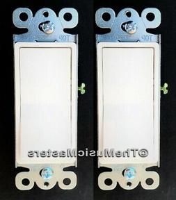 2X White Electric On/Off Decora Rocker WALL LIGHT SWITCH Res