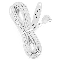 Aurum Cables 25 Feet 3 Outlet Extension Cord 16AWG Indoor/Ou