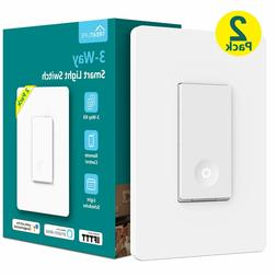 3 way 3-Way Smart Light Switch WiFi Remote Control Works Ale