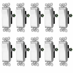 Enerlites 3-Way Decorator Paddle Rocker Light Switch, Single