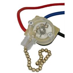 3-Way Home Ceiling Fan Light Brass Pull Control Switch Repla
