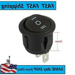 3 way round rocker switch - ON - OFF - ON ----- AC 120V or 2