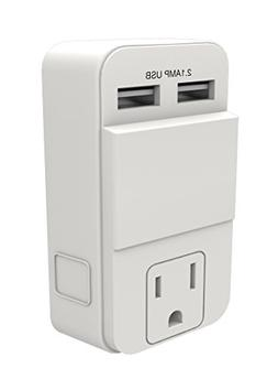 Stanley 30405 PlugMax USB, White