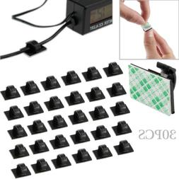 30PCS Mini Car Self Adhesive Wire Cable Clips Rectangle Tie