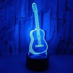 3D Guitar USB LED Switch Night Lights Home Decor Bedroom Des