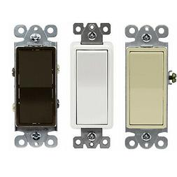 4-Way 15 Amp Light Switch Decorator Rocker Switch 15A 120-27