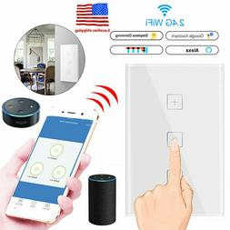400W WiFi Smart Dimmable Light Touch Control Dimmer Switch f