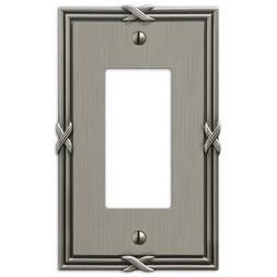 Amerelle 44RAN Ribbon and Reed 1 Rocker-GFCI Wallplate, Anti