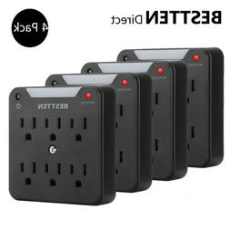 4PK BESTTEN 6-Outlet 900J Wall Mount Surge Protector w/Led A