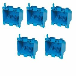 5-Pc Dual 2-Gang Wall Outlet Switch Old-Work Home Plastic El