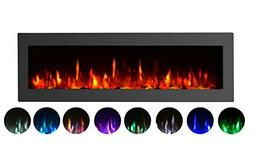 "GMHome 50"" Electric Fireplace Wall Mounted Heater Freestandi"
