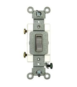 Leviton 54501-2GY 15 Amp, 120/277 Volt, Toggle Framed Single