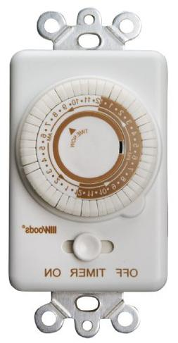 Woods 59745WD In-Wall 24-Hour Mechanical Timer That Converts