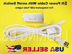 5FT Power Cable With Switch for Integrated LED Tube Light Re