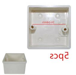 5pcs Recessed in Wall Mounting Light Switch Socket Junction