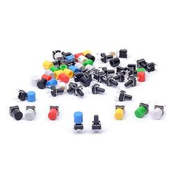 Cylewet 35Pcs 6×6×9mm Tactile Tact Push Button Switch Micr