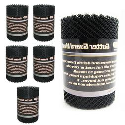 6 Gutter Guard Mesh Rolls 16 Ft X 6In Black Plastic Leafsout