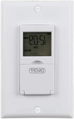Century 7 Day Programmable In-Wall Timer Switch for Lights,