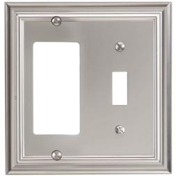 Amerelle 94TRN Continental Cast Metal Wallplate with 1 Toggl
