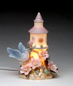"Cosmos Gifts 96332 Porcelain Birdhouse Night Light 6""H"