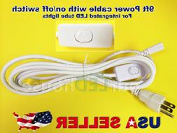 9FT POWER CABLE With Switch For T8 T5 Integrated LED Tube Li